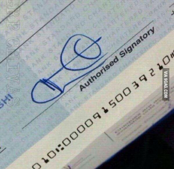 Best signature ever! - 9GAG