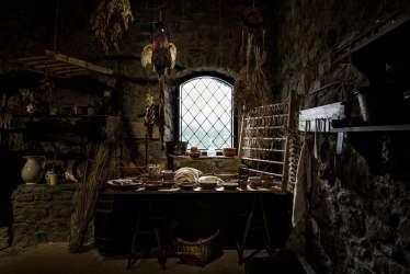 A restored medieval kitchen inside Verrucole Castle Tuscany 9GAG