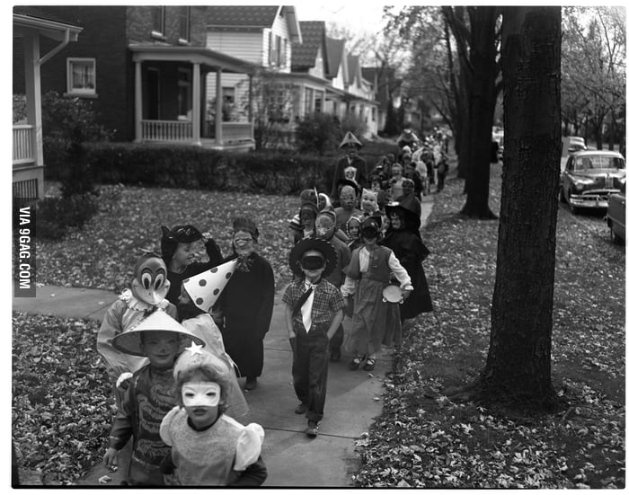 Image result for Halloween in the 50s