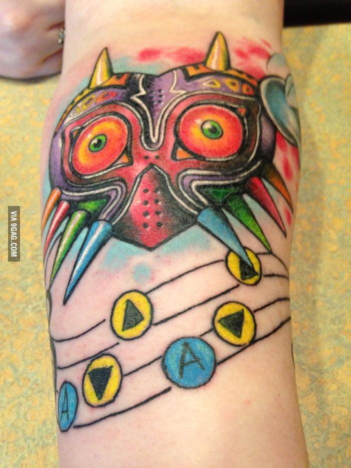 My Legend Of Zelda Majoras Maskocarina Of Time Tattoo 9gag