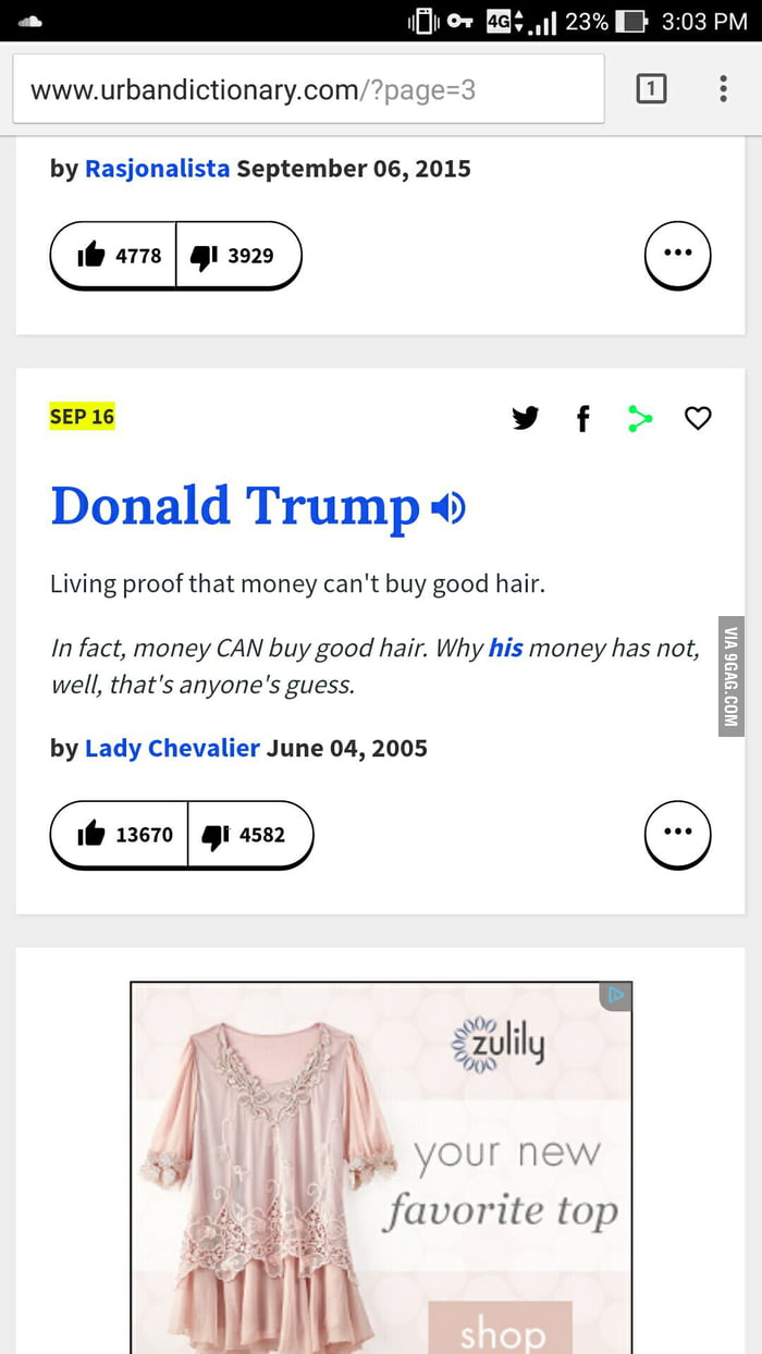 went to urban dictionary