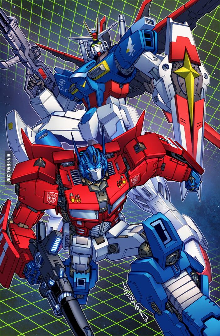 gundam transformers crossover 9gag