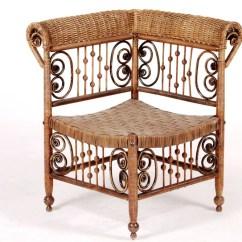 Heywood Wakefield Wicker Chairs Linen Tufted Chair Kirklands Corner Lofty Marketplace
