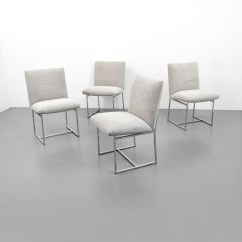 Milo Baughman Dining Chairs Room Swing Chair Set Of 4 Palm Beach Modern Auctions