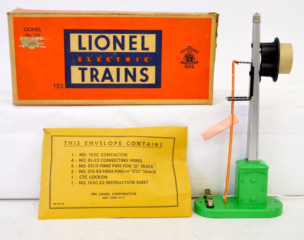 hight resolution of mint lionel postwar o gauge 153 automatic block signal and control ac contactor wiring diagram lionel 153c contactor wiring
