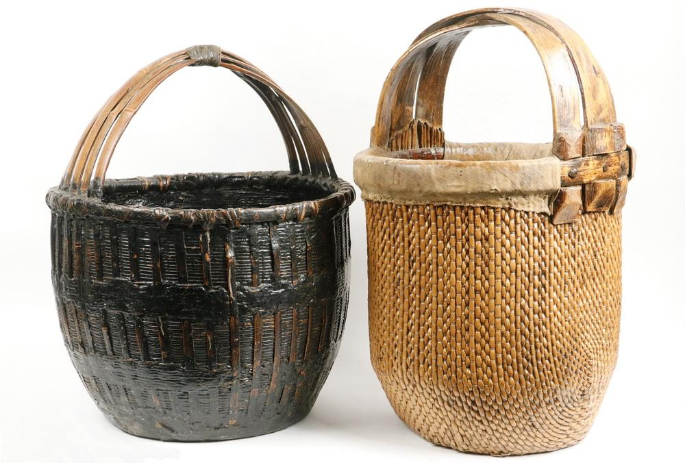 2 chinese baskets lofty