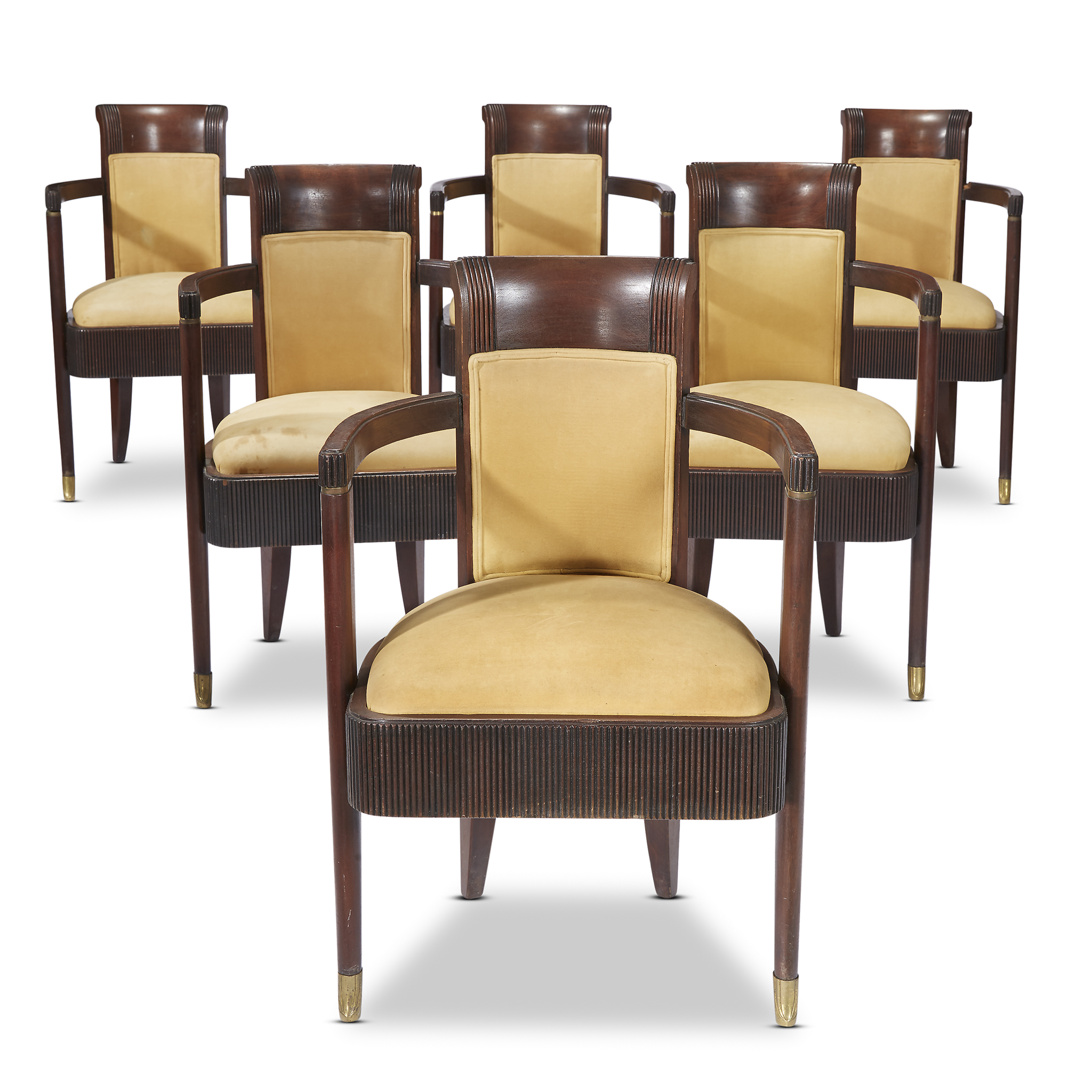 Art Deco Dining Chairs A Set Of Six Art Deco Dining Chairs From The S S Normandie Pierre Patout French 1879 1965 For Neuveu Nelson Circa 1932