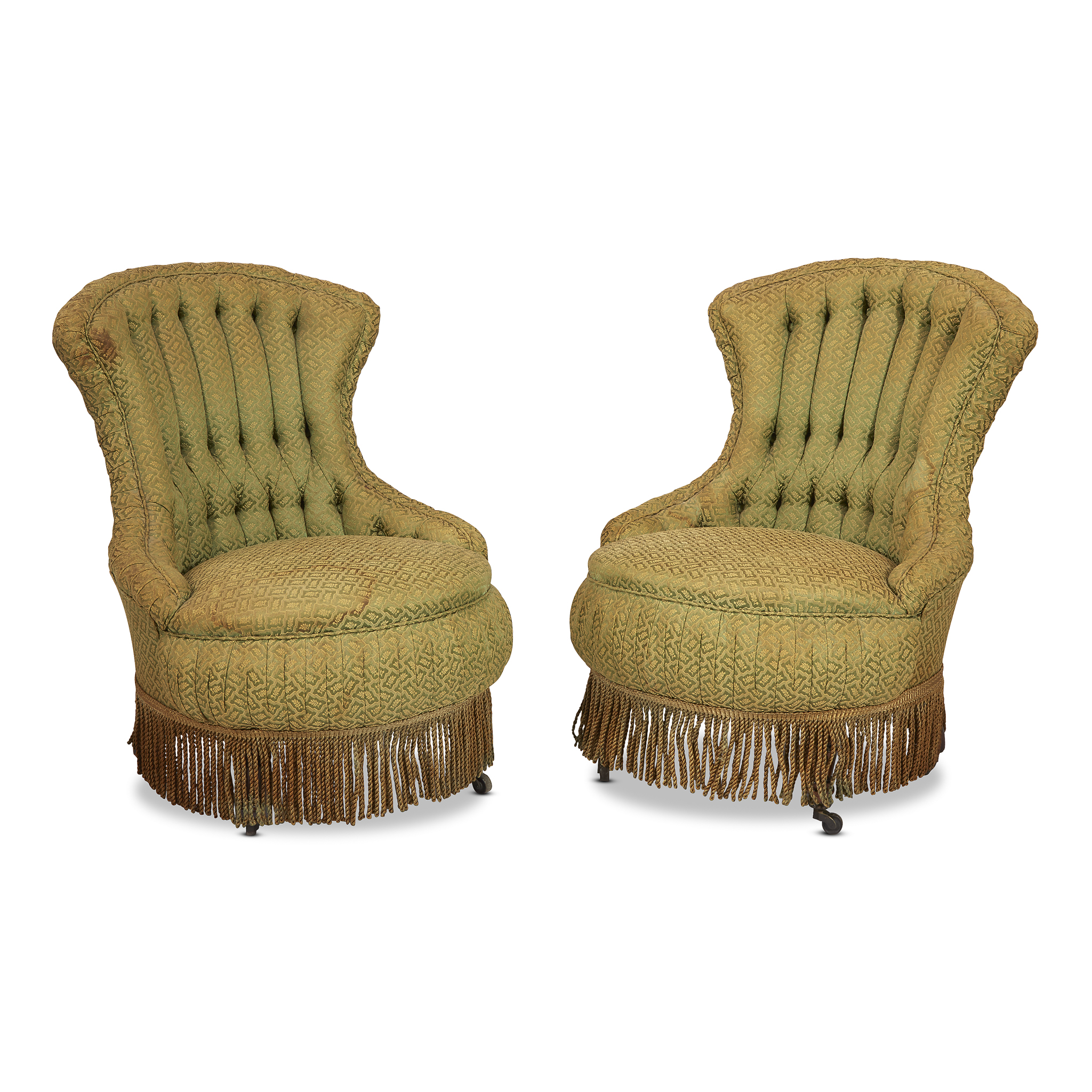 upholstered slipper chair bedroom deck a pair of napoleon iii style chairs second half 1 lofty marketplace