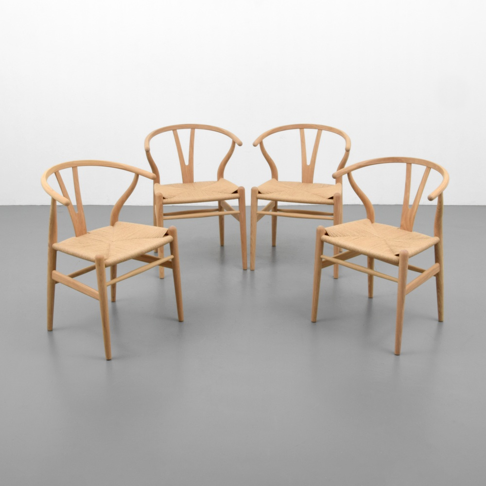 Wishbone Chairs Hans Wegner Wishbone Chairs Set Of 4