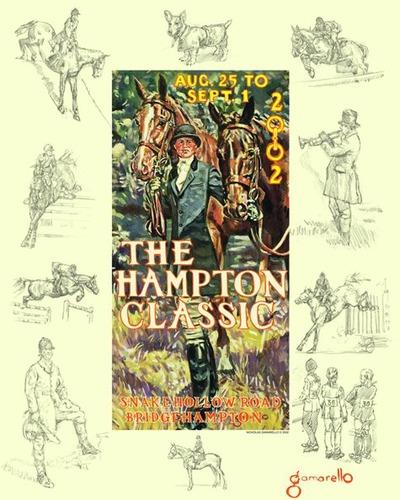 2002 Nicholas Gamarello Hampton Classic Poster