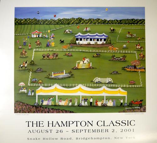 2001 Edwina Halsey Hampton Classic Poster