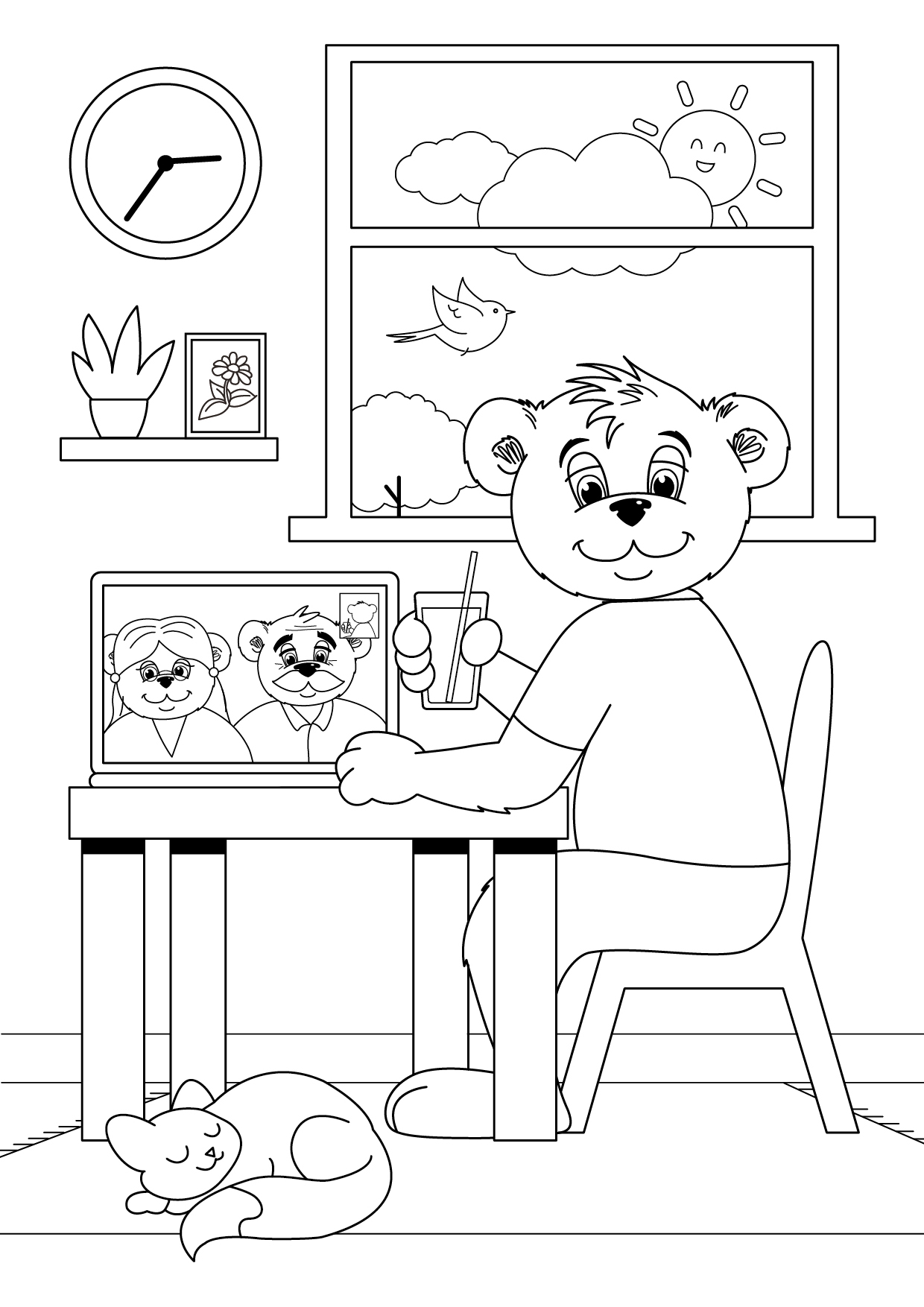 Colour in with Billy the bear