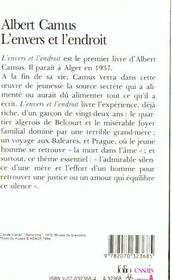 L Envers Et L Endroit : envers, endroit, L'envers, L'endroit, Albert, Camus