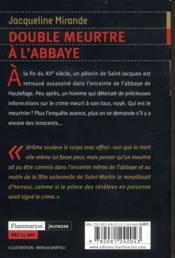 Mirande Jacqueline, Double meurtre à l'abbaye - LIRELIRE