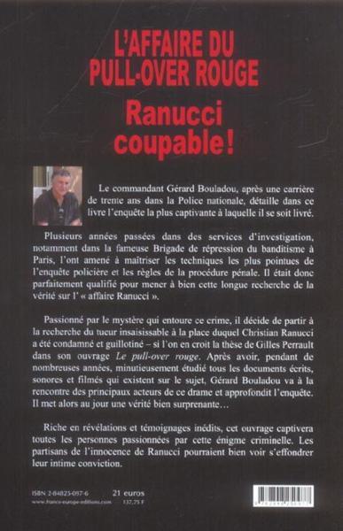 Affaire Du Pull Over Rouge : affaire, rouge, Livre, L'affaire, Pull-over, Rouge,, Ranucci, Coupable, Grard, Bouladou, ACHETER, OCCASION