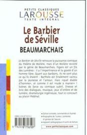 Résumé de Le Barbier de Séville - Beaumarchais
