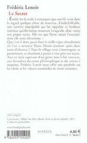 Résumé Du Livre Un Secret : résumé, livre, secret, Secret, Frédéric, Lenoir