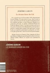 Le Dernier Hiver Du Cid : dernier, hiver, Dernier, Hiver, Jérôme, Garcin