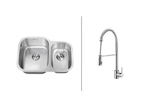 kitchen sink amazon european cabinet hardware ruvati rvc2506 不锈钢厨房水槽和铬水龙头套装 价格报价图片