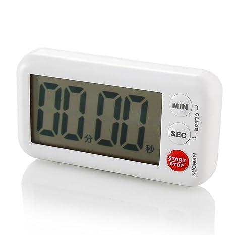 kitchen timers painted gray cabinets fasola厨房定时器提醒器学生电子正倒计时器秒表大屏幕闹钟记时钟 白色大 fasola厨房定时器提醒器学生电子正倒计时器秒表大屏幕闹钟记