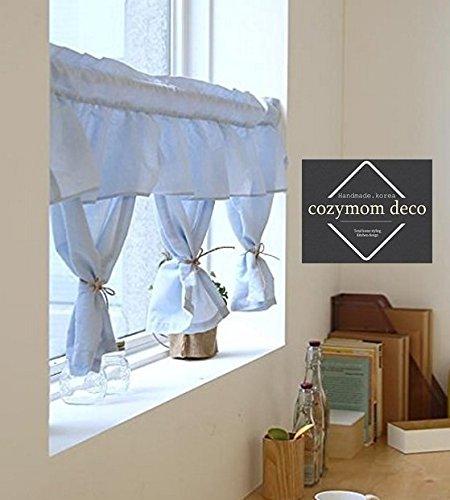 cafe kitchen curtains 24 inch sink 手工天然棉质咖啡厅窗帘 厨房窗帘 欧洲农村时尚家庭窗帘 一体式50 宽