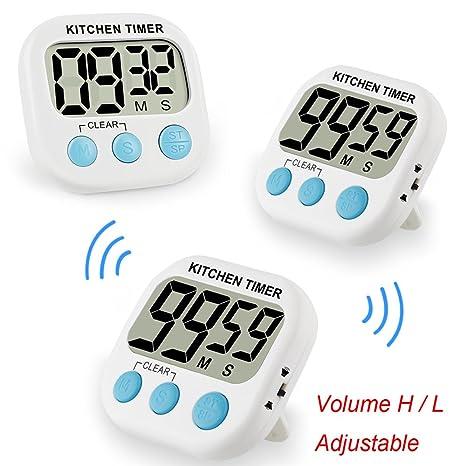 digital kitchen timers accessories stores 小型数字厨房计时器烹饪烘焙计时器磁性背面可调音量带响亮闹钟大数字可 小型数字厨房计时器烹饪烘焙计时器磁性背面可调音量带响亮