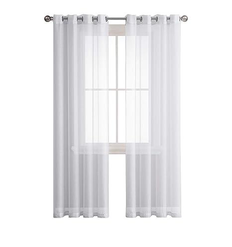kitchen curtain panels custom cabinets decosource 佳透明金属扣眼窗帘板卧室 客厅 厨房 儿童房户外耐用聚酯 儿童房