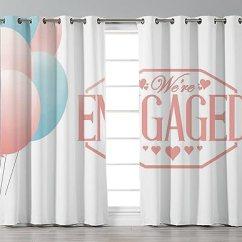 Kitchen Cafe Curtains Delta Faucet Repair Iprint 时尚窗帘 1 周岁生日装饰 次庆祝婴儿与派对气球的振奋剂 桃 次庆祝婴儿与派对气球