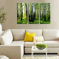Framed Prints For Kitchens Portable Kitchen Island With Stools Birch Tree 墙壁艺术3板现代森林印刷油画风景海报绘画帆布印刷品框架适用 墙壁艺术3板现代森林印刷油画风景海报绘画帆布印刷品框架