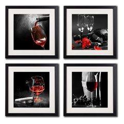 Framed Prints For Kitchens Shelves Kitchen Cabinets 带框葡萄 和葡萄墙壁艺术印刷品海报客厅装饰黑白和红玫瑰墙壁艺术装饰 和葡萄墙壁艺术印刷品海报客厅装饰黑白和红玫瑰