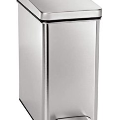Simplehuman Kitchen Trash Can Cabinet Hardware 简单人类10l窄型垃圾桶sh Cw1898 厨具 亚马逊中国