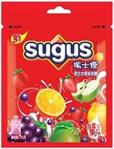 Sugus 瑞士糖 混合水果口味 175克袋裝-食品-亞馬遜中國