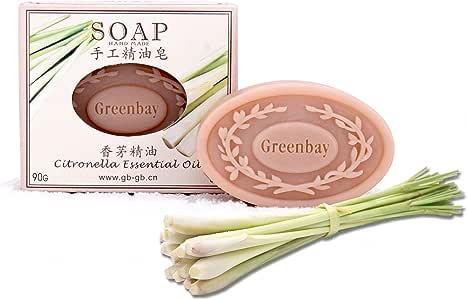 Greenbay綠銘純天然越南香茅精油皂手工皂潔面皂 90g-化妝-亞馬遜中國