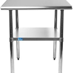 Zinc Kitchen Table Commercial Hood 76 2cm X 30 48cm 不锈钢工作桌带架子 Nsf 认证厨房岛食品准备工作 洗衣车库实用桌 家居装修 亚马逊中国