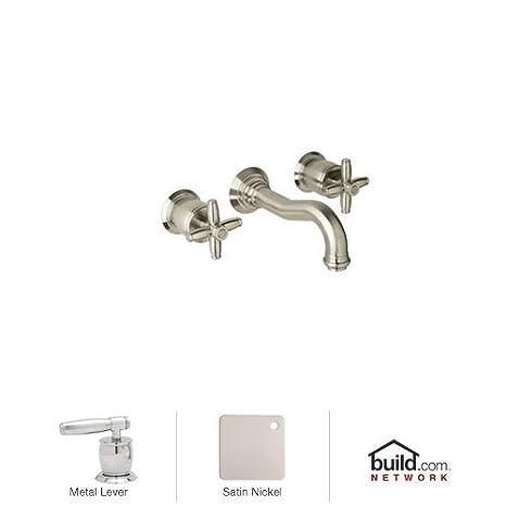 rohl kitchen faucet cabinet islands mb1930lmstn 2 gotham 壁挂式浴室水龙头 带金属手柄 缎面镍 缎面
