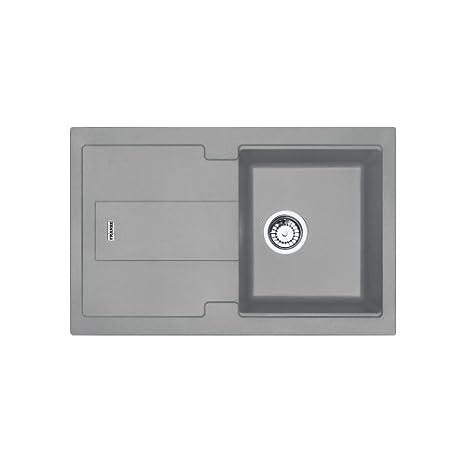 gray kitchen sink cheap small table franke 114 0442 922 granite 厨房水槽单碗 石灰色 家居装修 亚马逊中国