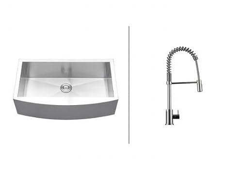 farm kitchen sink king cabinets ruvati rvc2451 不锈钢厨房水槽和铬水龙头套装 价格报价图片