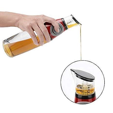 oil dispenser kitchen track lighting 油分配器瓶油和醋瓶玻璃分配器 测量厨房用油瓶17 盎司 500 毫升 厨具 测量厨房用油瓶