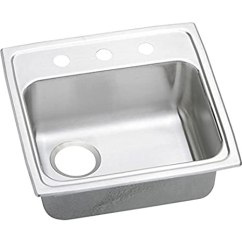 Elkay Kitchen Sinks Dornbracht Faucet Elkao Lradq191855l1 18 Gauge 不锈钢x 5 英寸单碗上衣