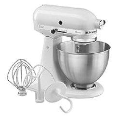 Kitchen Aid Artisan Mixer Professional 5 Plus Kitchenaid 凯膳怡 搅拌 榨汁 食品处理 厨房电器 小家电 亚马逊 K45sswh K45ss 275瓦4 5夸脱容量经典立式搅拌机