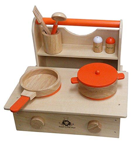 wood kitchen set southwest 木制过家家厨房套装烹饪微波炉 玩具 亚马逊中国