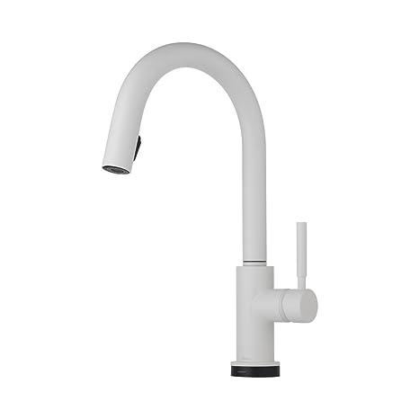 brizo kitchen faucet wooden tools 64020lf mw solna 厨房水龙头单手柄带多功能下拉喷雾器和智能
