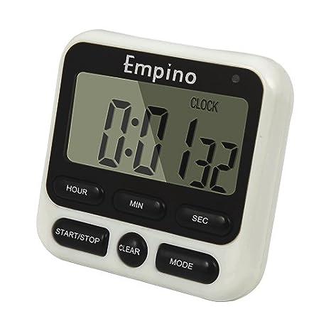 digital kitchen timers distressed white cabinets empino 24 小时数字厨房计时器时钟烹饪计时器倒数多功能带大数字 响亮 小时数字厨房计时器时钟烹饪计时器倒数多功能带