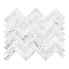 Kitchen Backsplash Design Gray Vamos 瓷砖大理石人字形即剥即贴瓷砖后挡板 贴在后挡板上 自粘墙砖用于 贴在