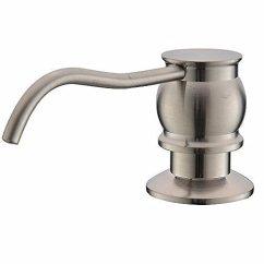 Kitchen Sink At Lowes Comfort Mats Comllen 古风拉丝镍不锈钢台面厨房水槽肥皂分配器 内置手液肥皂器泵 内置手液肥皂