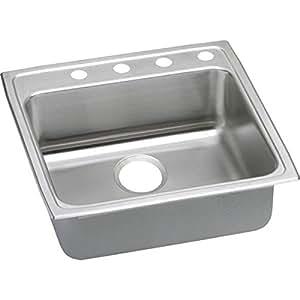 36 inch kitchen sink island tops elkao elkay lradq2222653 18 gauge 不锈钢55 9 x 16 5 cm 单碗上衣 单碗上衣支架厨房水槽 3水龙头孔 家居装修 亚马逊中国