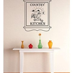 Country Kitchen Wall Decor Remove Grease Buildup From Cabinets 带乙烯基2 Zzz 731 装饰品乡村厨房墙贴贴纸 40 64 X 60 96 厘米 黑色