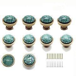 Kitchen Cabinet Knobs Beveled Subway Tile Tonena 复古绿湖玻璃旋钮装饰旋钮和拉手把手厨房家具门抽屉橱柜衣柜衣 复古绿湖玻璃旋钮装饰旋钮和拉手把手厨房家具门抽屉橱柜