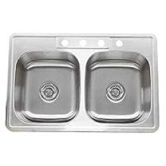Kitchen Sink 33 X 22 Sage Green Cabinets 第5页 1600元左右的水槽推荐 品牌销量排行 慢慢买手机版 Nantucket Sinks Ns3322 De 9 英寸双碗不锈钢厨房水槽
