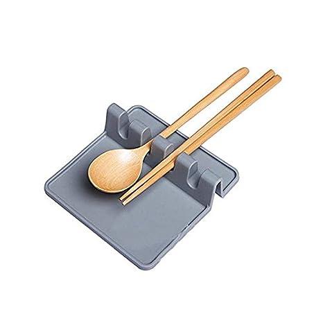 kitchen spoon rest delta faucet 厨房硅胶utensil 休息勺夹子多功能厨房用具灰色 亚马逊中国 家居 海外